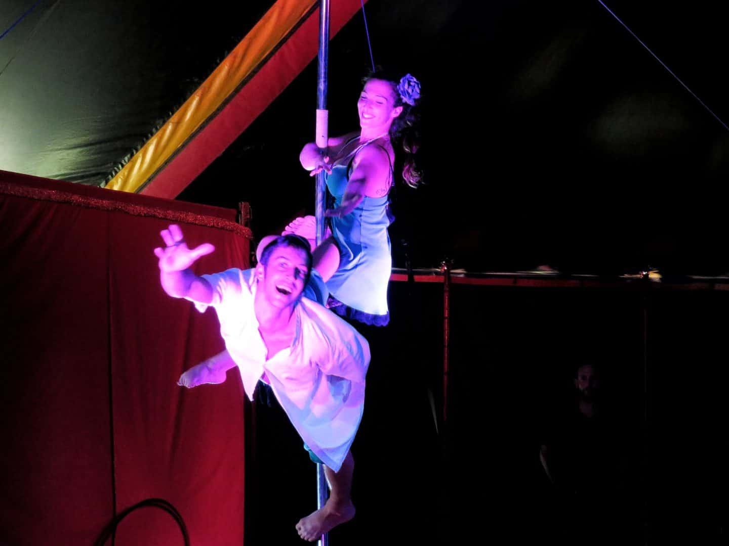 circus performers at sunshine festival 2019