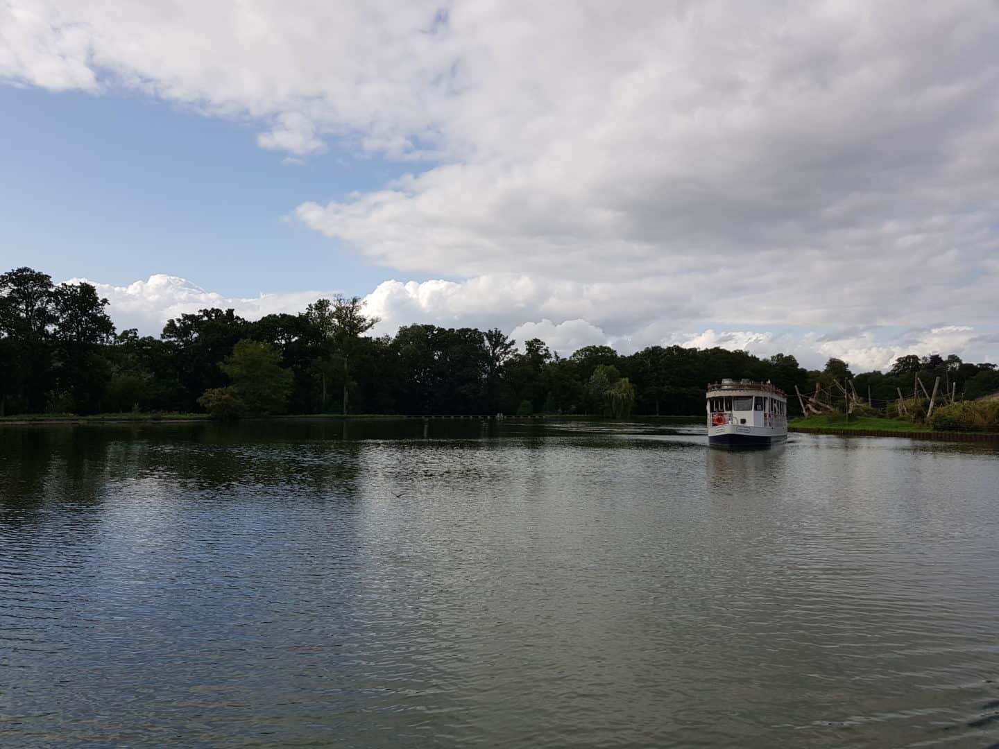 Boat ride on lake at Longleat Safari Park