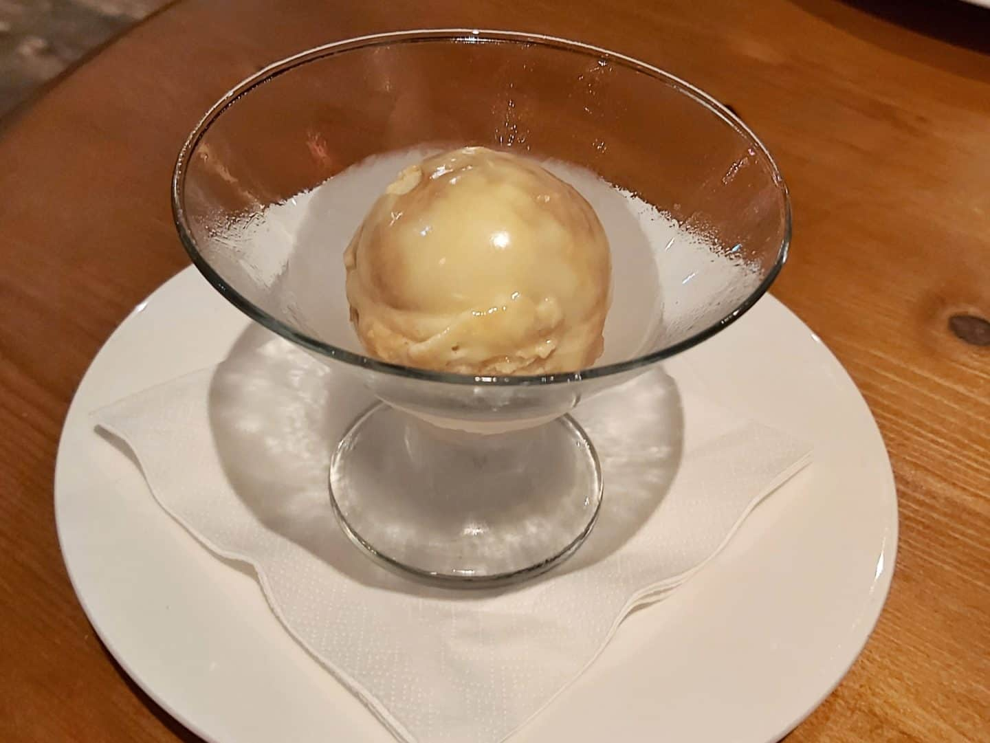bowl of honeycomb ice cream