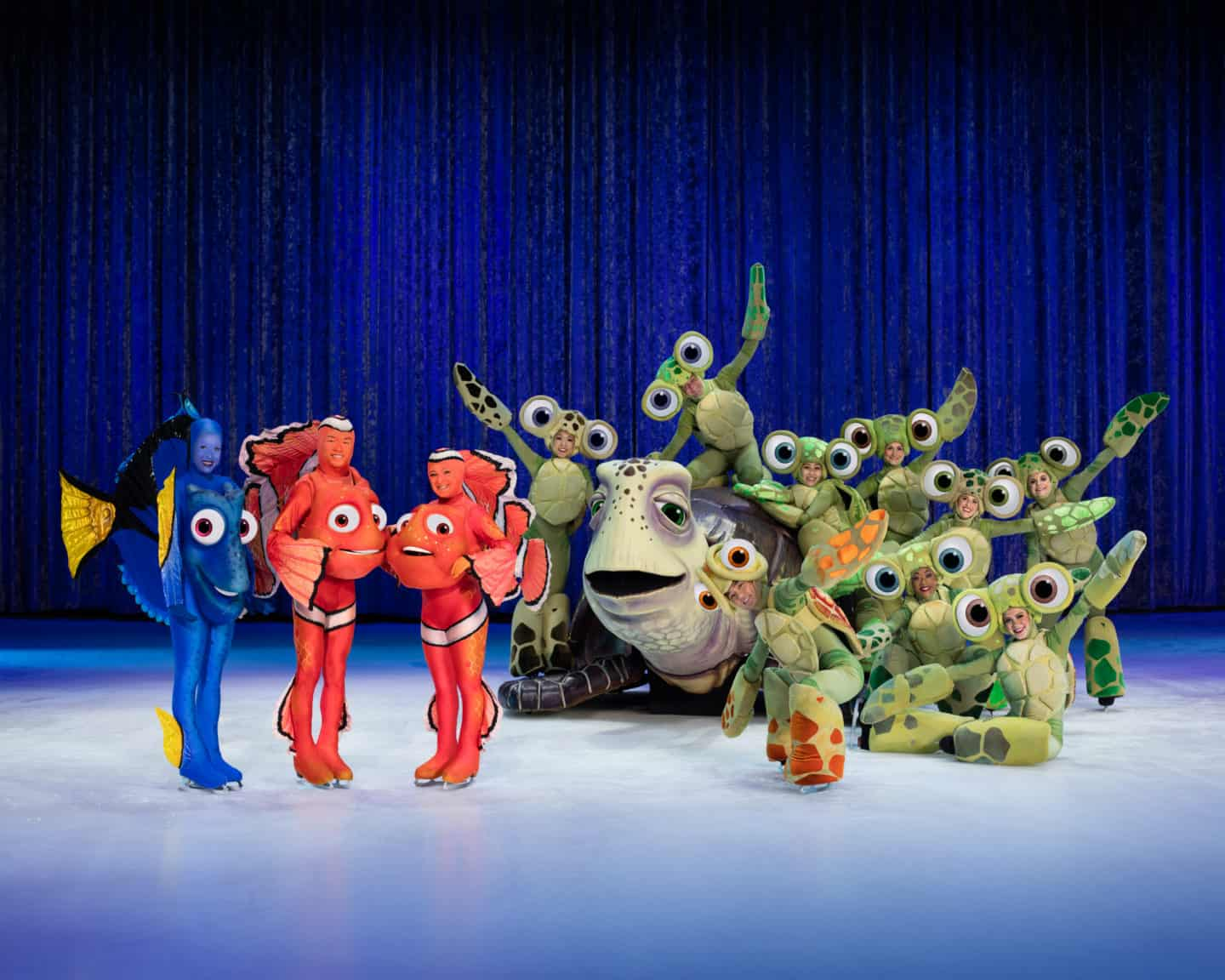 Disney On Ice celebrates 100 Years of Magic: Turtles and fish from finding Dory