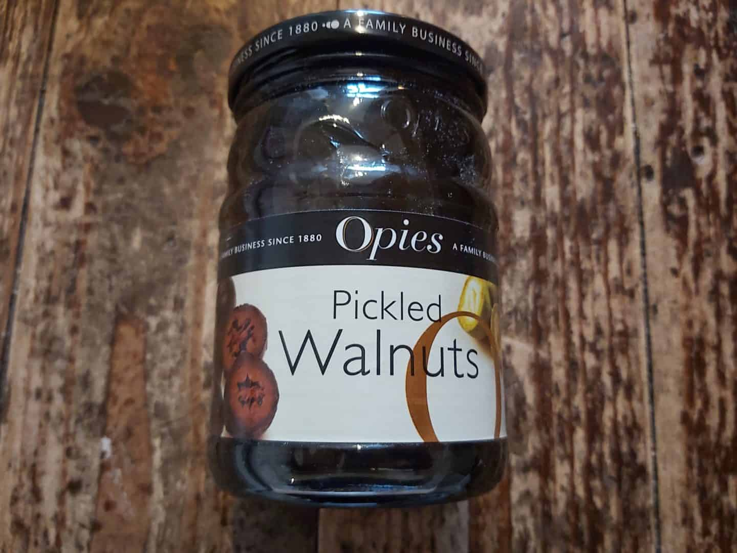 Jar of Opies Pickled Walnuts