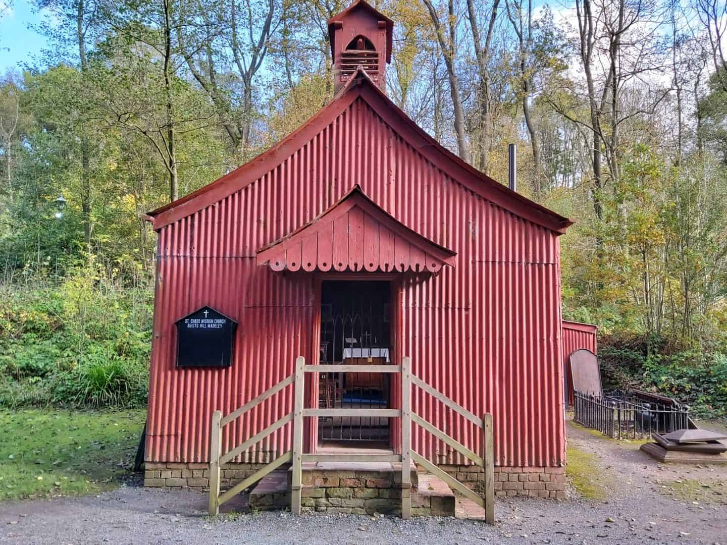 Red corrugated iron church