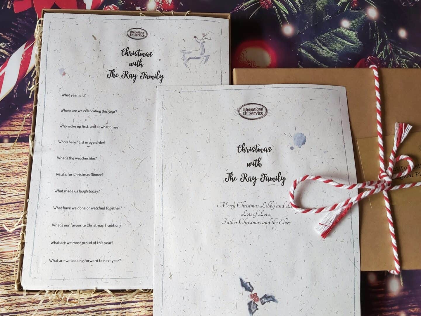 4 gift rule: something to read. Christmas memory box by the International Elf Service
