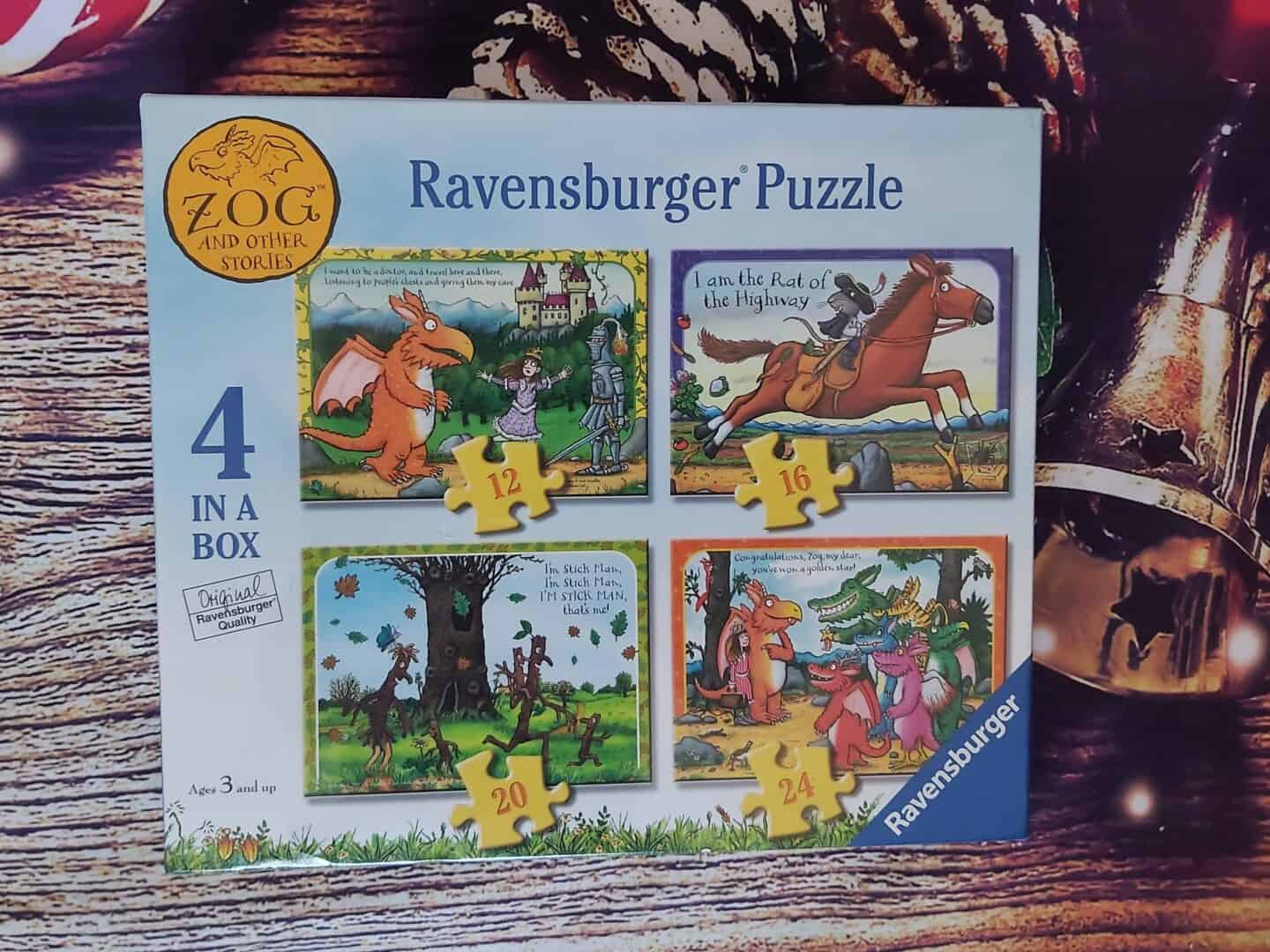 Zog and other stories box of 4 jigsaw puzzles