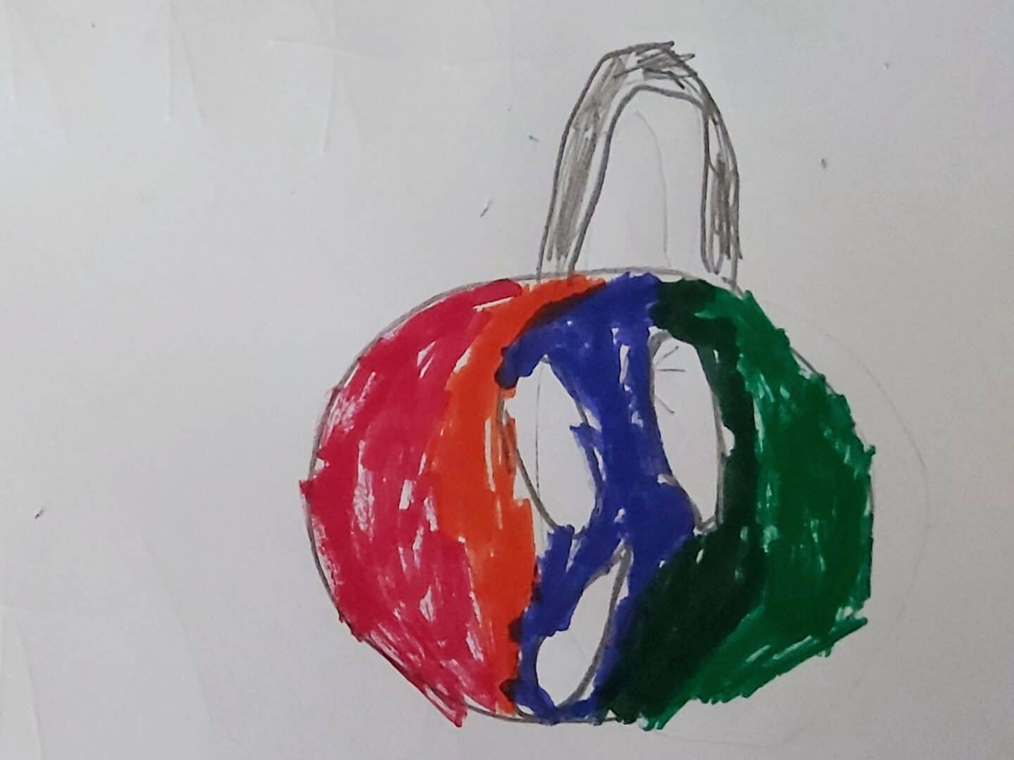 Drawing of a Christmas Bauble