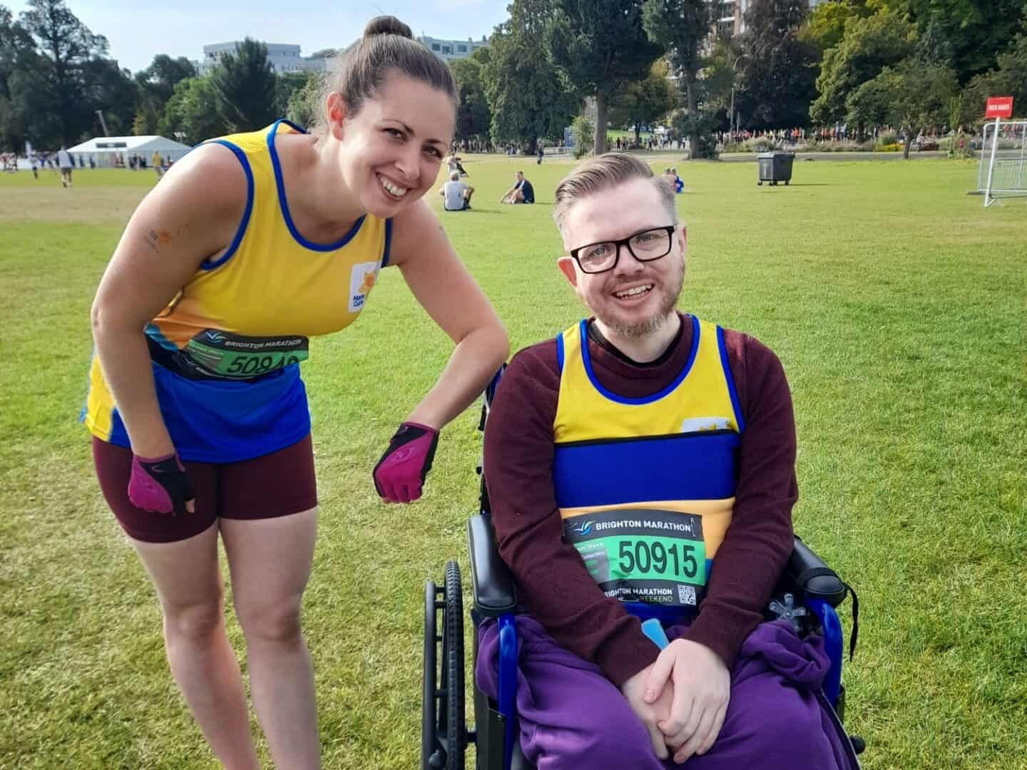 Accessibility: Assisting a wheelchair athlete in the Brighton Marathon